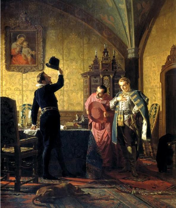 Присяга-Лжедмитрия-I-польскому-королю-Сигизмунду-III-на-введение-в-� оссии-католицизма (592x700, 417Kb)