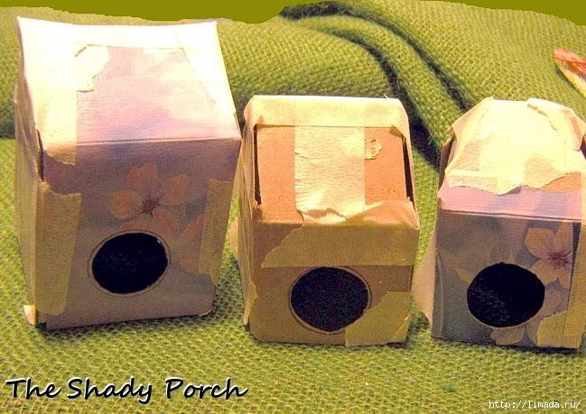 3 cardboard birdhouses (649x459, 234Kb)