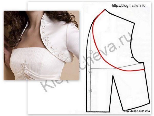 Как сшить балеро для платья