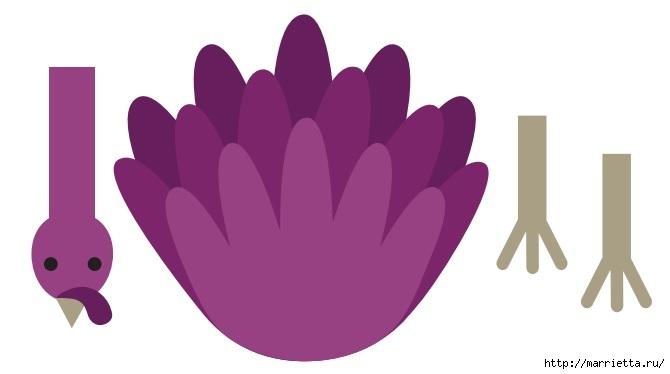 Индейки из шишек и фетра (3) (670x374, 48Kb)
