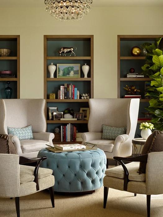 Бархатная обивка мебели в интерьере (28) (524x700, 325Kb)