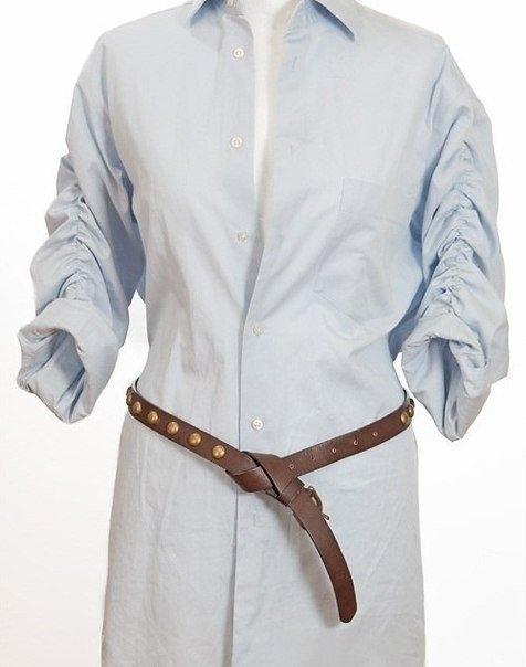 туника из мужской рубашки6 (476x604, 96Kb)