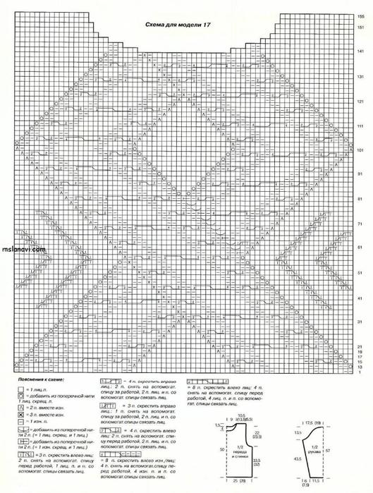 пуловер-спицами-с-аранами-схема (529x700, 293Kb)