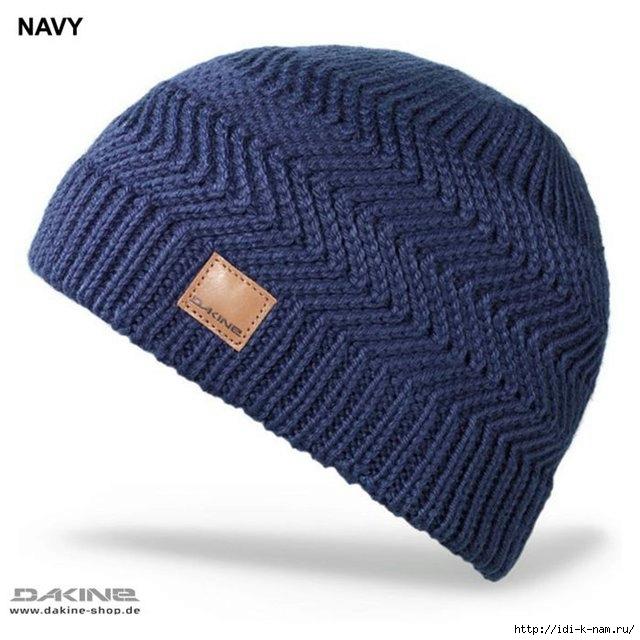 вязаная мужская шапка, как связать мужскую шапку с зигзагом. схема вязания мужской шапки с зигзагом,