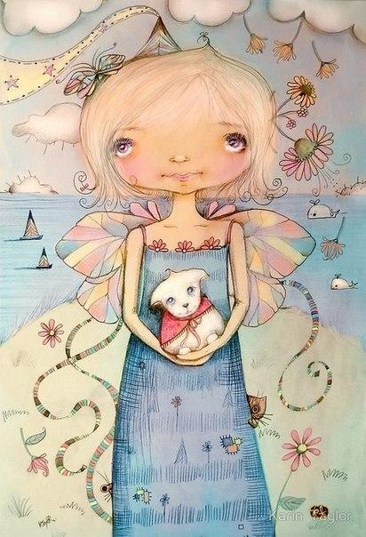 Радужные иллюстрации Karin Taylor8 (412x604, 257Kb)