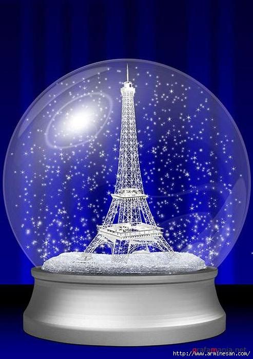 Стеклянный шар с снегом своими руками