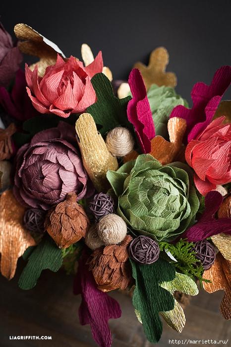 Композиции цветы из гофрированной бумаги