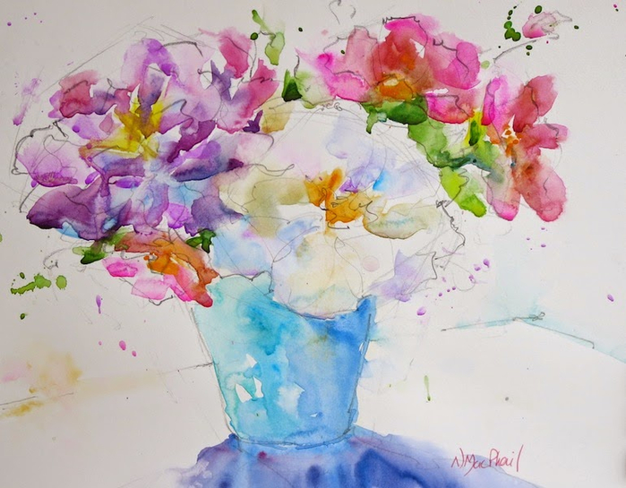 art painting original watercolour nora macphail flowers toronto watercolour society canada canadian (700x545, 364Kb)