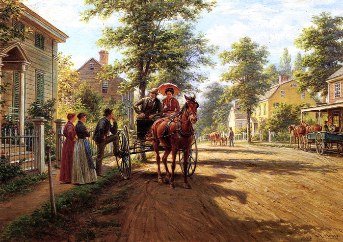 Edward Lamson Henry - One Sunday Afternoon (700x494, 516Kb)