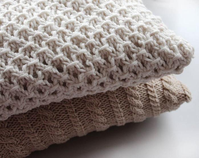 Вязание: чехлы на подушки