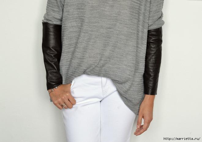 Переделка одежды. Замена рукавов пуловера (5) (660x466, 95Kb)