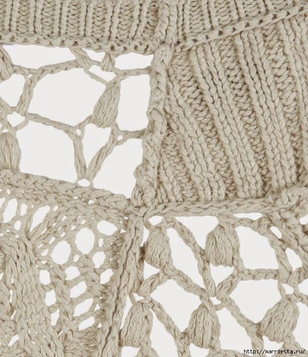 Стильный жакет и платье крючком и спицами (5) (602x700, 353Kb)