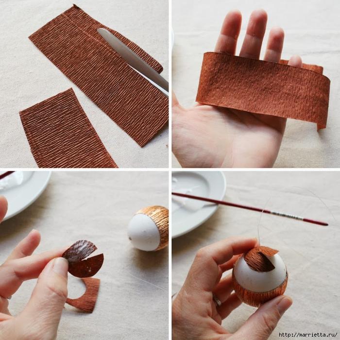 Как сделать желудь своими руками из бумаги