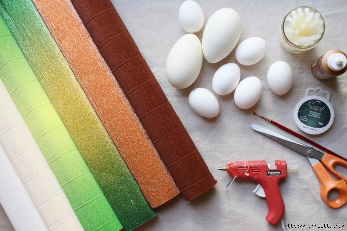 Фундук, желуди и шишки из яиц и гофрированной бумаги (22) (700x466, 255Kb)