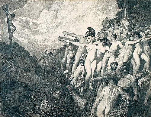 Норман Линдсей (Norman Lindsay), 1879-1969 18+++ Pollice Verso (500x389, 282Kb)