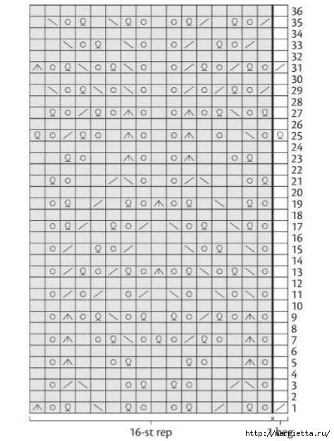 Вяжем спицами ажурный СНУД с ЖАККАРДОМ (5) (474x627, 154Kb)