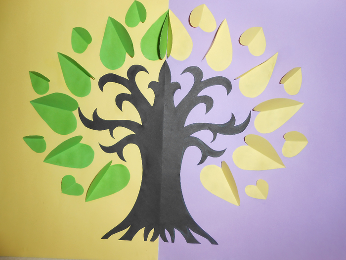 Поделки из бумаги дерево добрых слов
