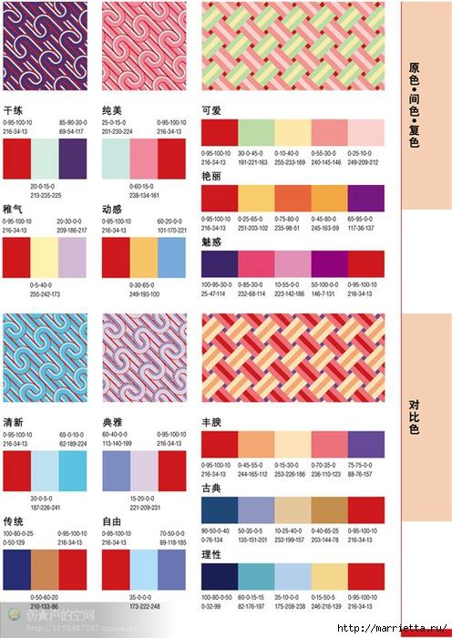 Гармоничные цветовые схемы для