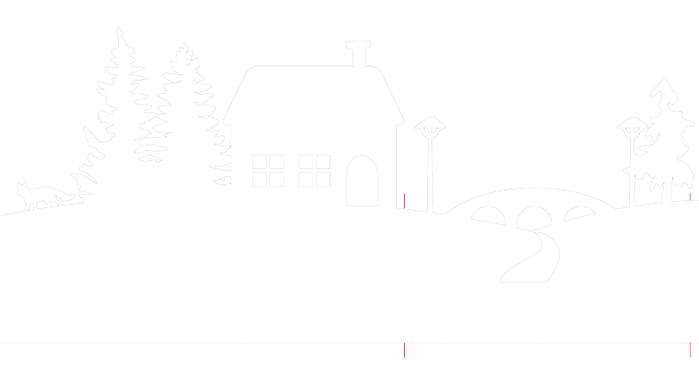 Зимняя деревня из бумаги. Шаблоны для распечатки (1) (700x365, 11Kb)