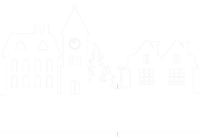 Зимняя деревня из бумаги. Шаблоны для распечатки (3) (700x479, 12Kb)