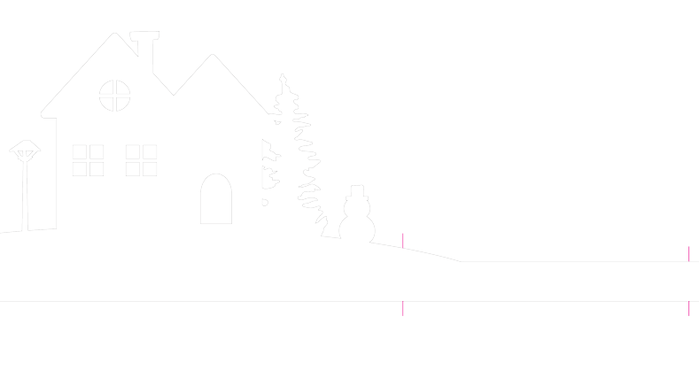 Зимняя деревня из бумаги. Шаблоны для распечатки (4) (700x386, 7Kb)