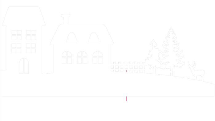 Зимняя деревня из бумаги. Шаблоны для распечатки (6) (700x394, 12Kb)