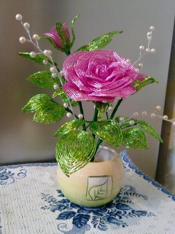 5 вариантов роз из бисер (мастер-класс)
