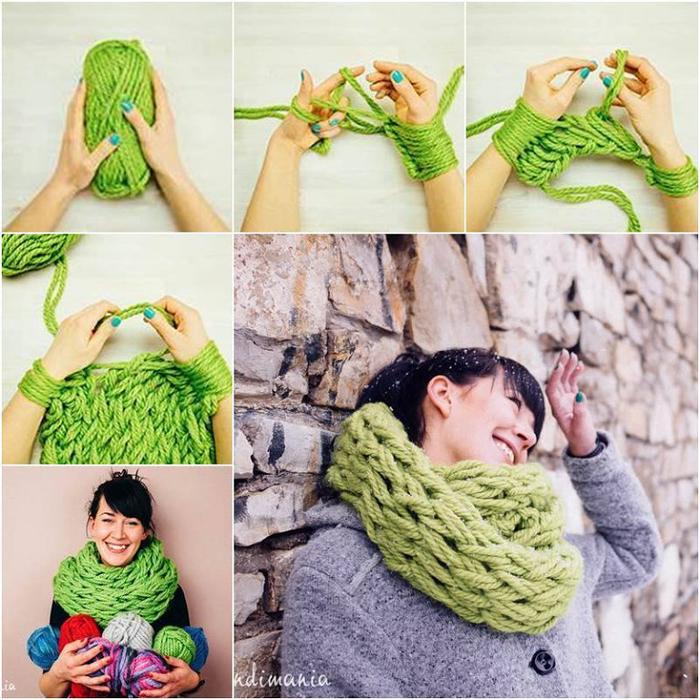 Вяжем шарфы своими руками