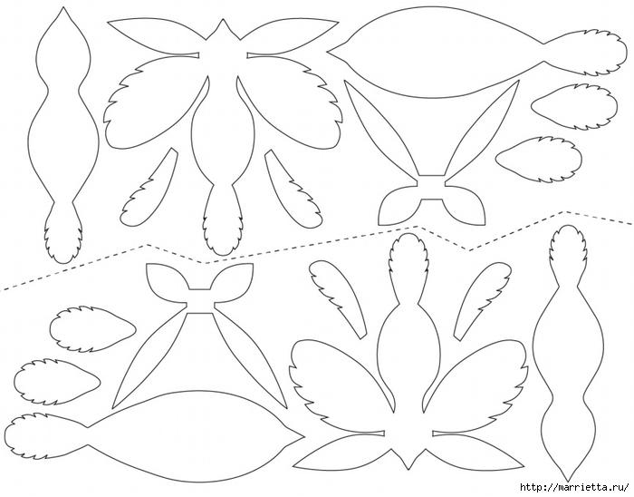 Птицы объемные из бумаги схемы