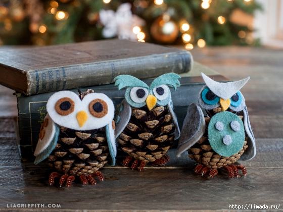 Felt_Ornaments_Pinecone_Owls (560x420, 211Kb)