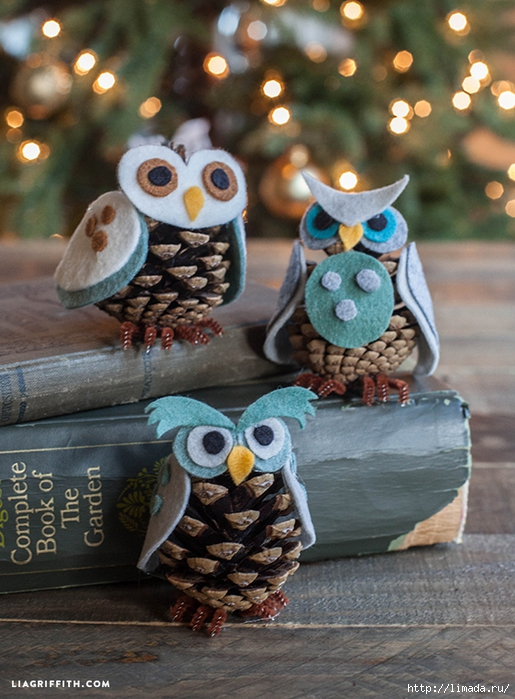 Owl_Ornaments_Felt_Pinecone (515x700, 307Kb)