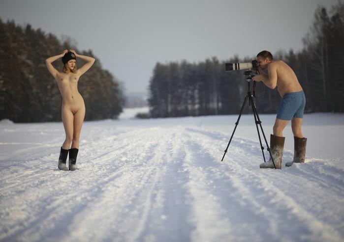 на снегу (699x493, 116Kb)