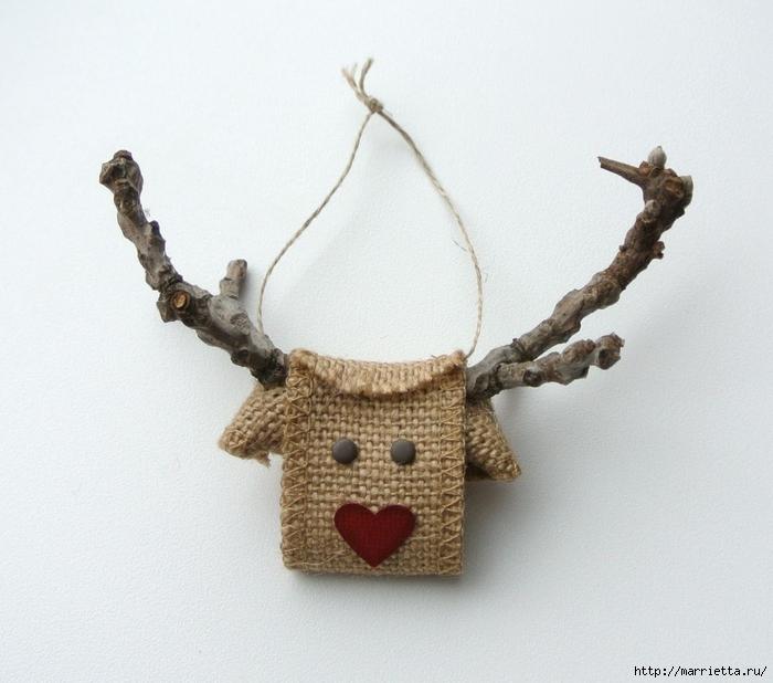 олени из мешковины украсят новогодний ...: marrietta.ru/post344218993