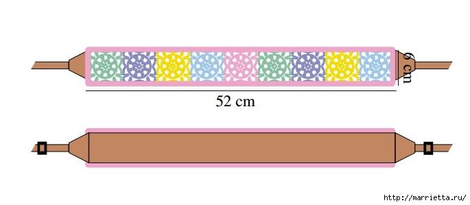 Вяжем крючком ремень для фотоаппарата (1) (685x299, 60Kb)