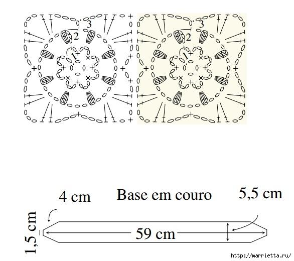 Вяжем крючком ремень для фотоаппарата (3) (586x520, 125Kb)