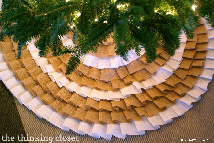 Как сшить юбочку для новогодней елки. Мастер-класс (8) (700x468, 354Kb)