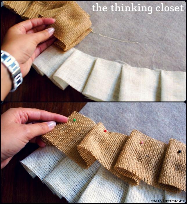 Как сшить юбочку для новогодней елки. Мастер-класс (11) (644x700, 420Kb)