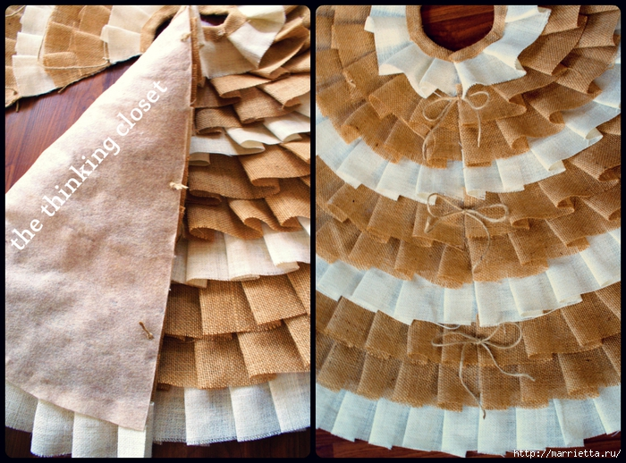 Как сшить юбочку для новогодней елки. Мастер-класс (13) (700x518, 368Kb)