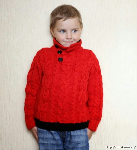 детский свитер с аранами, как связать свитер для мальчика, схема вязания свитера с аранами для мальчика, свитер с аранами для мальчика Хьюго Пьюго,