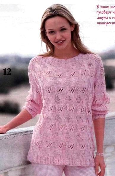 пуловер спицами (388x594, 216Kb)