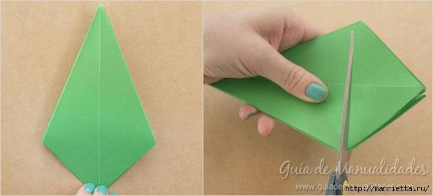 Новогодние елочки из бумаги в технике оригами (7) (620x281, 77Kb)
