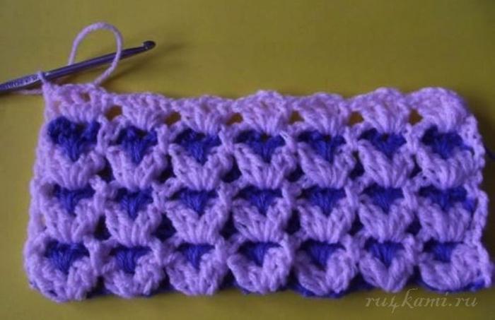 Узор ручеёк вязание