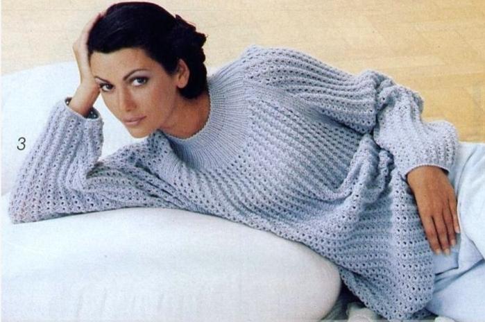 Модели вязанных свитеров для девушек