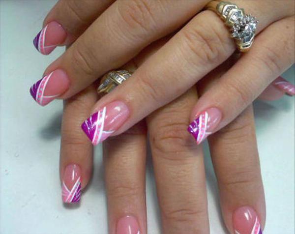 Дизайн ногтей френч треугольный