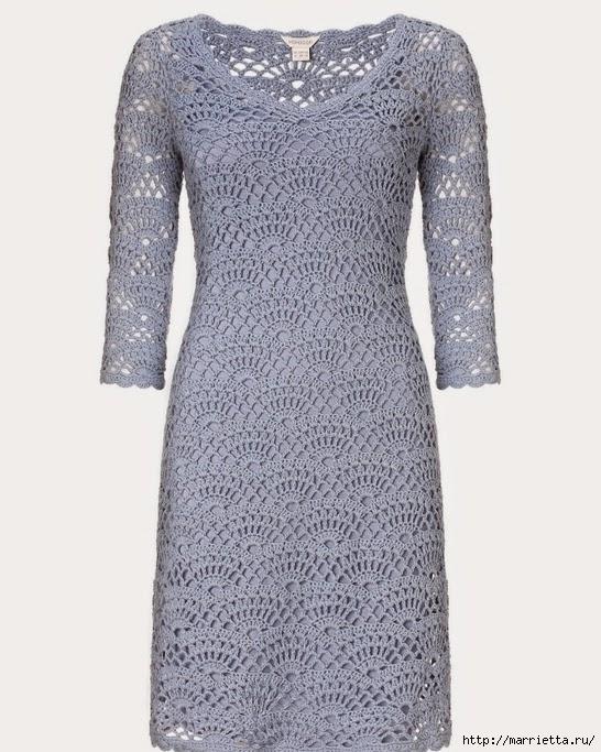 Вязание крючком. Платье на подкладке (2) (546x683, 250Kb)