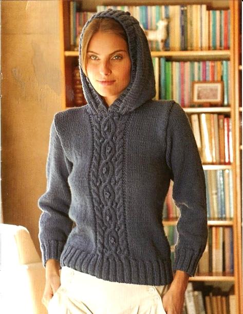 пуловер спицами (473x612, 343Kb)