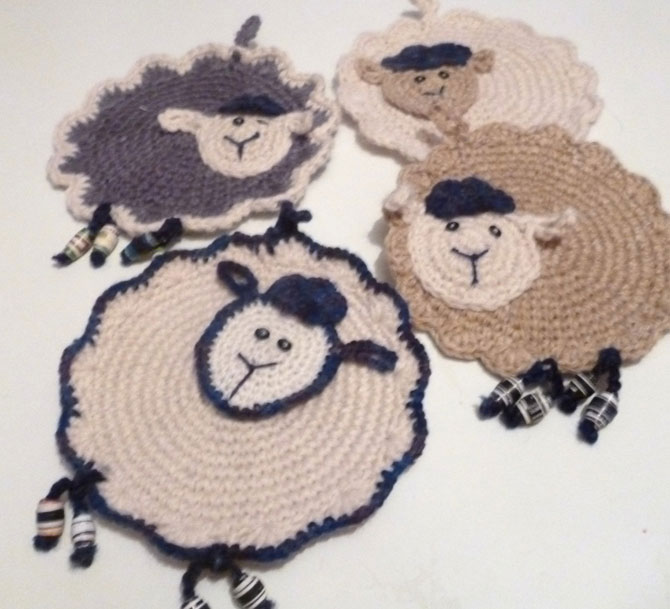Мастер класс вязания овечки прихватки крючком