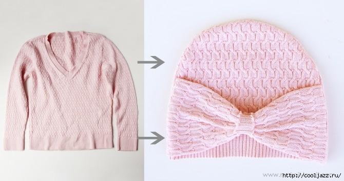 шапочки из свитеров6 (670x352, 136Kb)