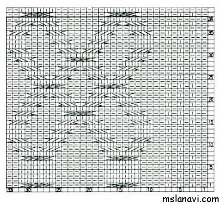 Рельефный-узор-спицами-схема-92 (452x419, 175Kb)