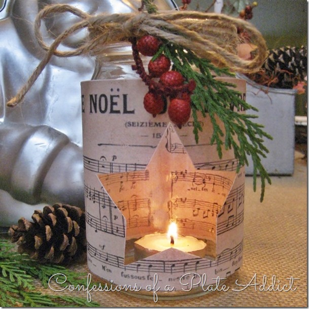 CONFESSIONS OF A PLATE ADDICT French Sheet Music Christmas Candles_thumb[8] (609x608, 361Kb)